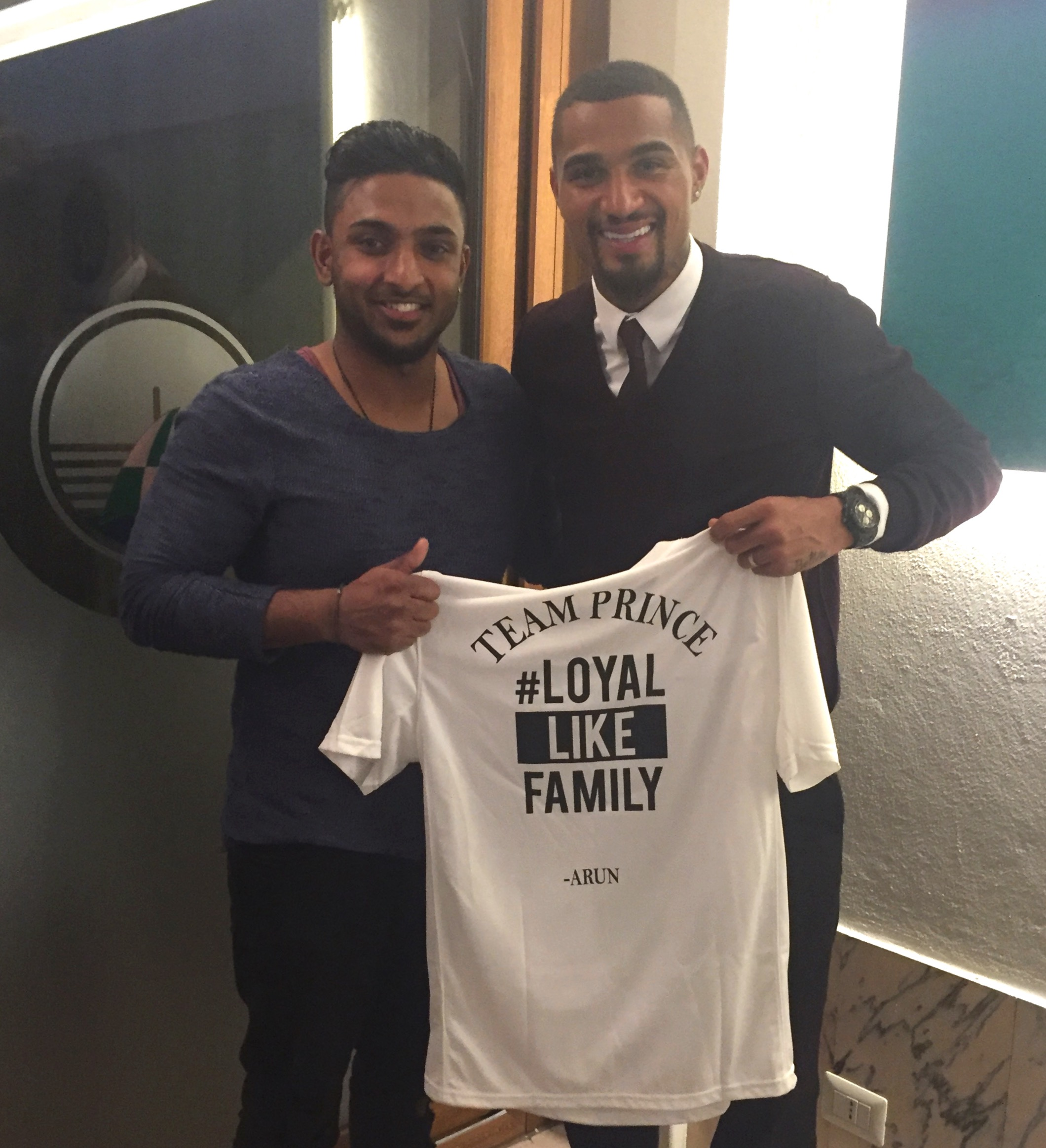 Prince Boateng with me in Mailand 02/2016